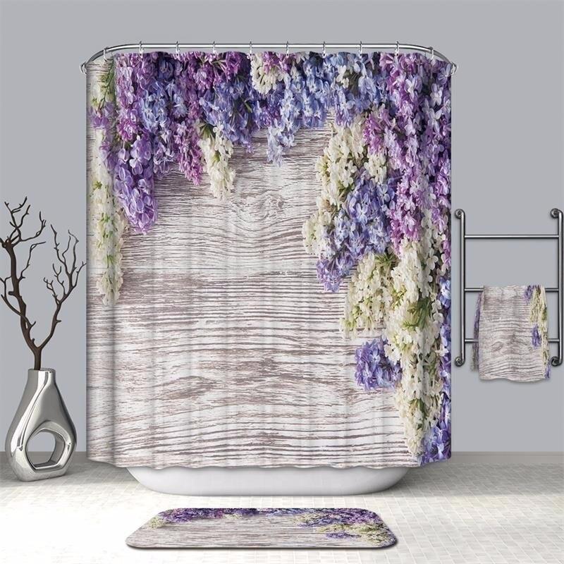 Image 2 - VOZRO bathroom shower curtain waterproof polyester 2 m cloth 3D Halloween bape douchegordijn pascoa duschvorhang farmhouse bath-in Shower Curtains from Home & Garden