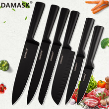DAMASK Kitchen Knives Cleaver Stainless Steel 3Cr13 Japanese Chef Knife Sushi Cooking Meat Fruit Utility Sharp Set