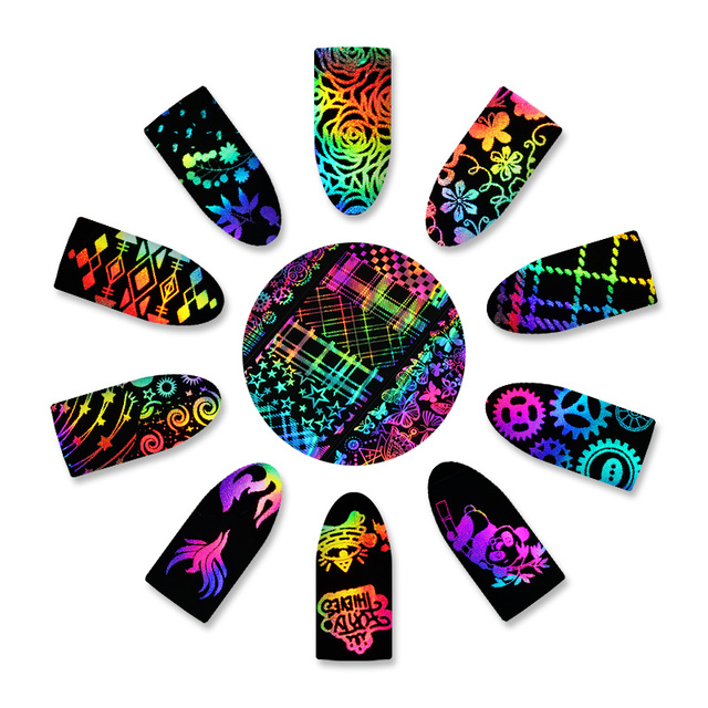 Mixed Style Holographic Nail Foil