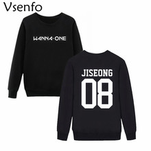 Vsenfo Korean KPOP Wanna One Sweatshirt Unisex Casual Crewneck Hoodie Wanna One Name Album Sweatshirts For Men Women Tops