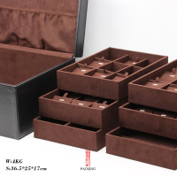 Black and Brown color Real Leather Jewelry display organizing Box The Exhibitors jewelry box Made by grain Real leather