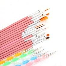 20Pcs Ornate Nail Art Set Dotting Painting drawing Polish Brush Pen Tools