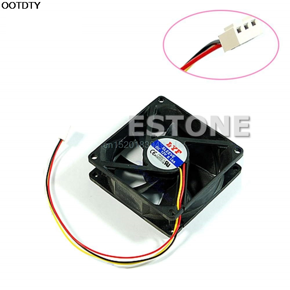 3 pin 80mm x 25mm CPU PC Fan Cooler Heatsink Exhaust - L059 New hot 3 pin 80 x 80 x 25 mm connector cooler cooling heatsink exhaust fan for computer box cpu motherboard cooler radiator
