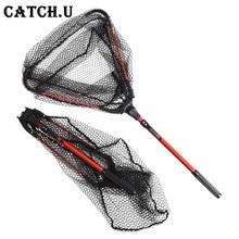 80cm Folding Fishing Net Retractable Telescoping Aluminum Alloy Pole Super Large Folding Landing Net
