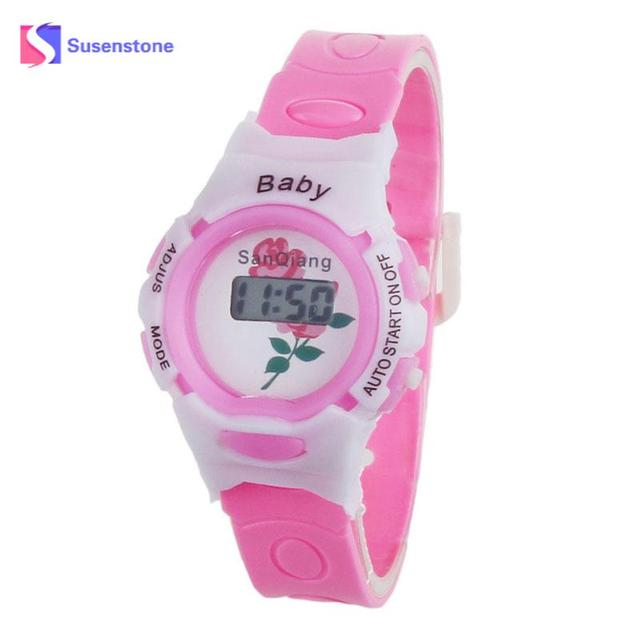 Fashion Brand Criancas relogio 2018 Colorful Boys Girls Students Time Electronic