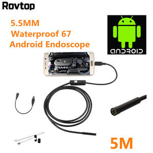5.5/7mm USB Wire Snake Tube Inspection Borescope Waterproof Mini Android Endoscope