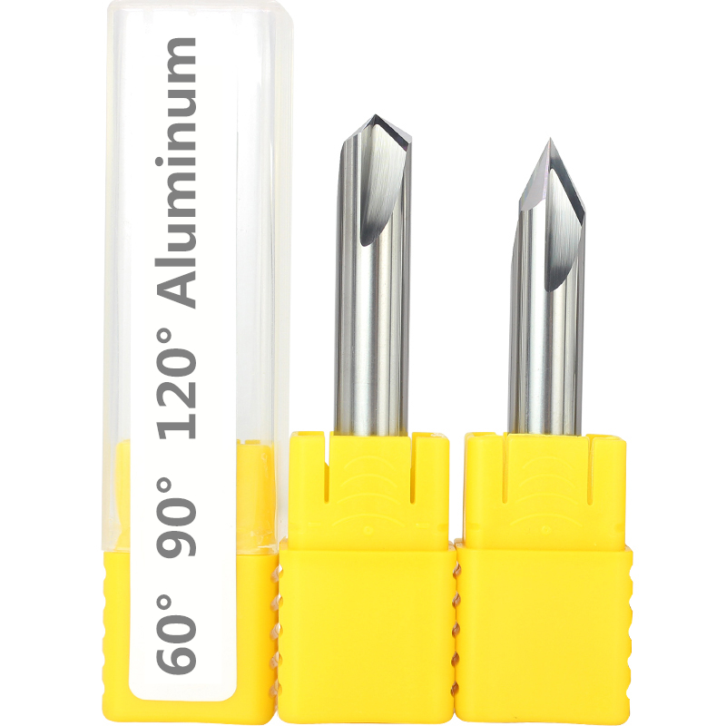 Image 3 - Free shipping 1PCS,CNC tungsten carbide aluminum and steel Chamfer milling cutter,30&45&60 degree tialn coated 3 flutes end mill-in Milling Cutter from Tools