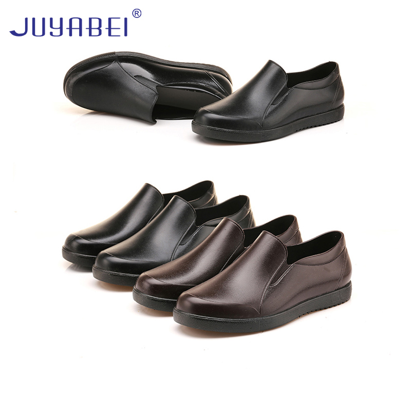 Fashion Non-slip Men's Summer Low To Help Kitchen Work Waterproof Shoes Hotel Restaurant Canteen Catering Service Chef Shoes