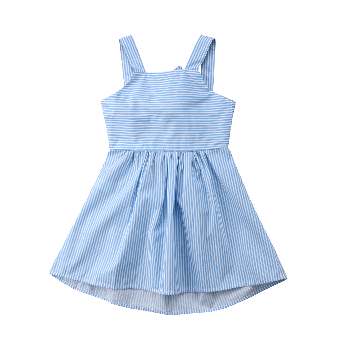 2PCS Striped Girl Princess Dress Kid Baby Party Wedding Pageant Dresses Clothes