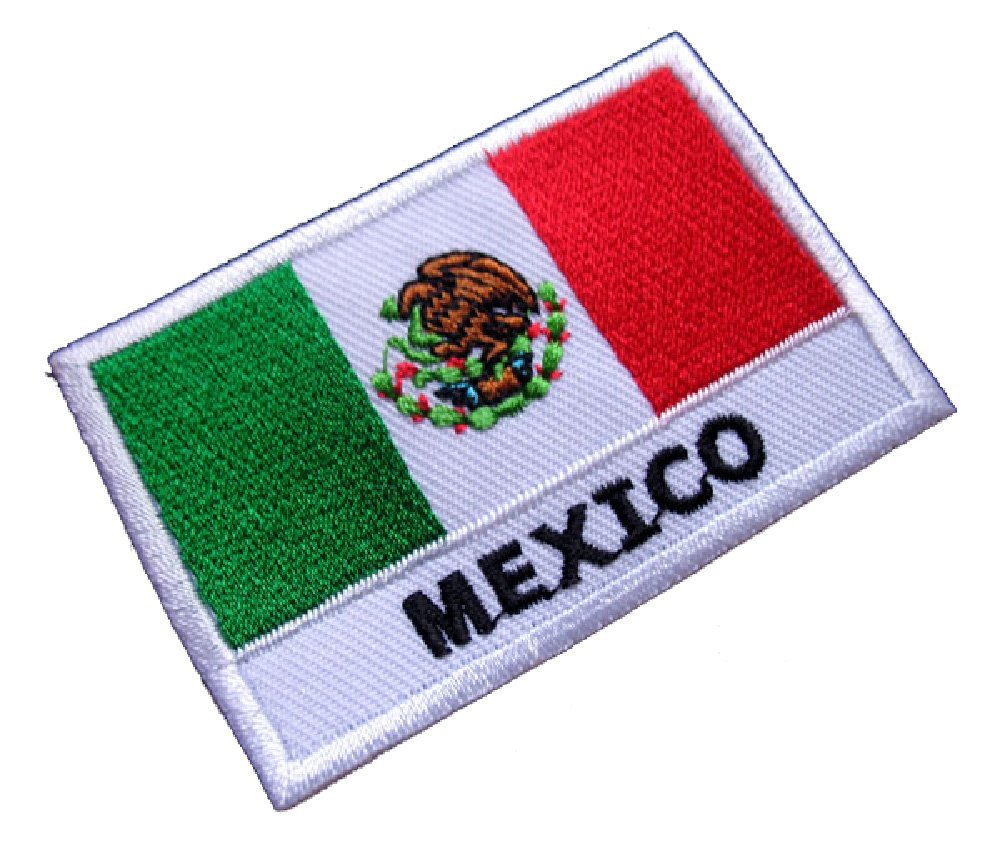 10pcs lot national flag country flag stick flags flag of the united - United Mexican States Mexico National Flag Patch Morale Tactical Patch Hook Loop Badge Decor Patches