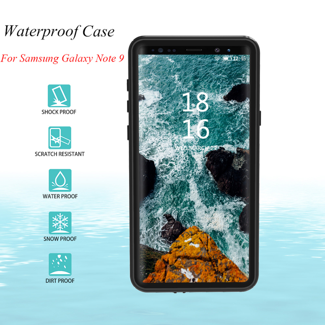 huge selection of f1667 bd922 US $14.43 8% OFF IP68 Waterproof Case for Samsung Galaxy Note 9 Case 360  Full Cover Protection Case for Samsung Note 9 Underwater Shockproof Case-in  ...