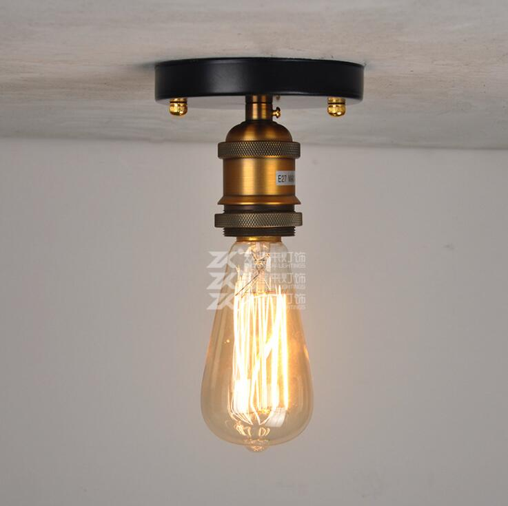 American Retro Industrial Wind Ceiling Lamp Loft Iron Aisle Balcony Bedroom Ceiling Lights Free Shipping
