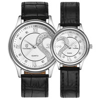 1 Pair 2pc Tiannbu Ultrathin Leather Romantic Fashion Couple Wrist Watches Xianjia
