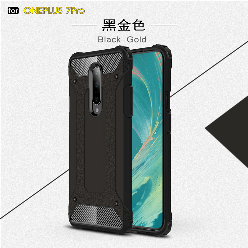Cover Oneplus 7 Pro Case Silicone Rubber Armor Shell Bumper Hard PC TPU Phone Cover For Oneplus 7 Pro Case For Oneplus 7 Pro in Fitted Cases from Cellphones Telecommunications