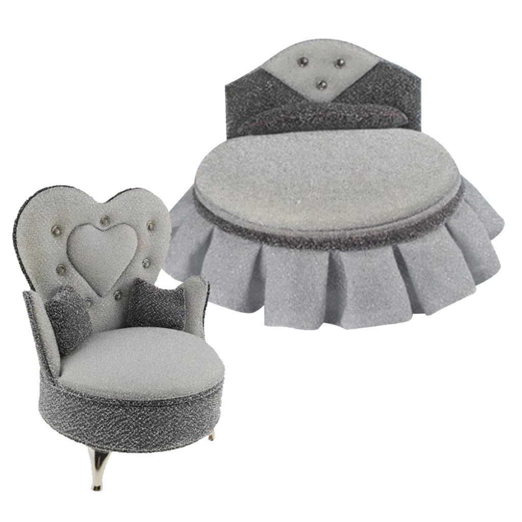 1/6 인형 집 침대 소파 안락 의자 가구 뜨거운 장난감 피규어 BJD 인형 액세서리 침실 거실 장식