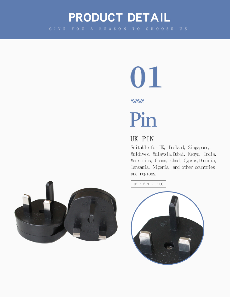 1 PC UK Adapter Travel Wall Power Plug Charger Adaptors Converter Connector uk Plug 3 Pin Socket Singapore Maldives Malaysia (4)