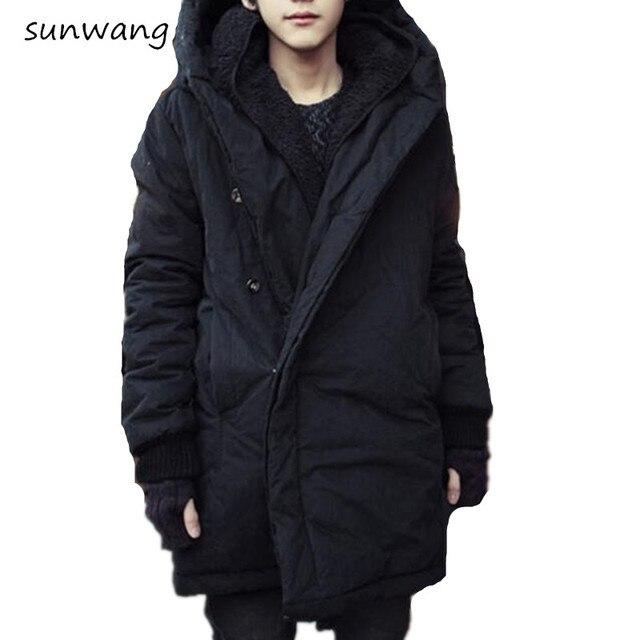 2018 Harajukund Fashion Koren Warm Parka Winter Jacket Men Coat Mens Jackets And Coats Mens Long Winter Coats With Hood 3xxl