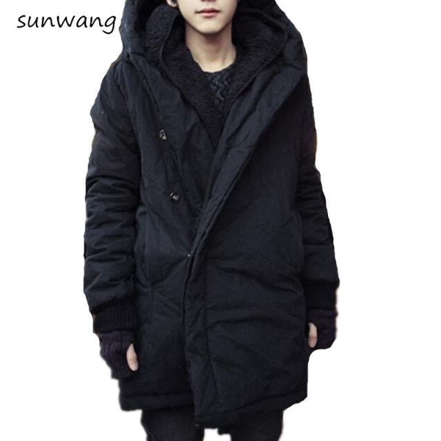 a58168270f3b5 2019 Harajuku Brand Fashion Koren Warm Parka Winter Jacket Men Coat Mens  Jackets And Coats Mens Long Winter Coats With Hood 3XXL