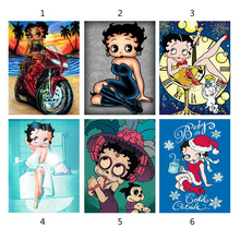цена на 5D DIY Diamond Painting Cartoon BETTY BOOP Painted Mosaic Embroidery Gift Cross stitch Embroidery Crafts home Decoration