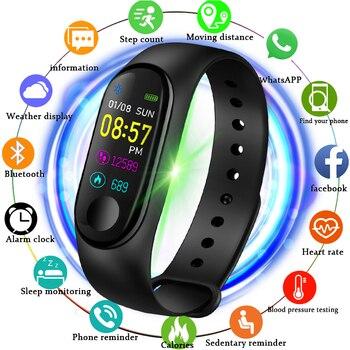 2019 Latest M3X Smart Watch Heart Rate Blood Pressure Monitor Sports Tracker Bracelet Women Men M3 Digital watch women