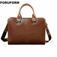 Men Crazy Horse Leather Briefcase Bags Business Laptop Tote Bag Men's Crossbody Shoulder Bag Men's Messenger Travel Bags LI 2451