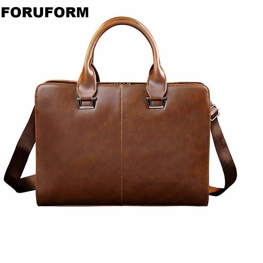 Men Crazy Horse Leather Briefcase Bags Business Laptop Tote Bag Men's Crossbody Shoulder Bag Men's Messenger Travel Bags LI-2451