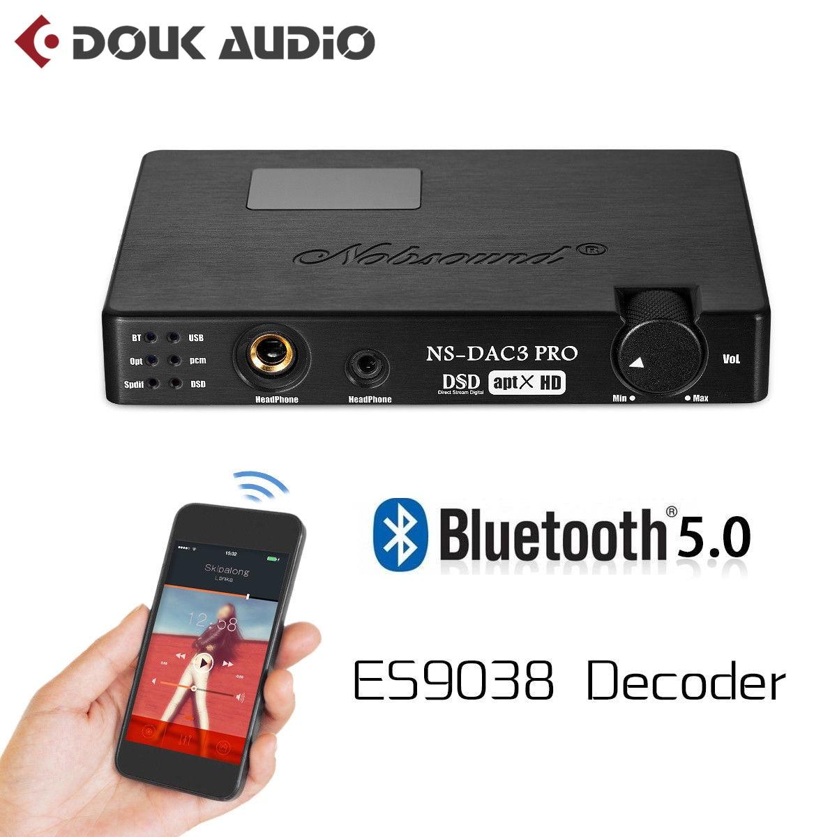 Nobsound Mini ES9038 XMOS Coaxial Optical CSR8675 Bluetooth5 0 APTX HD USB Dop DAC Headphone Amplifier