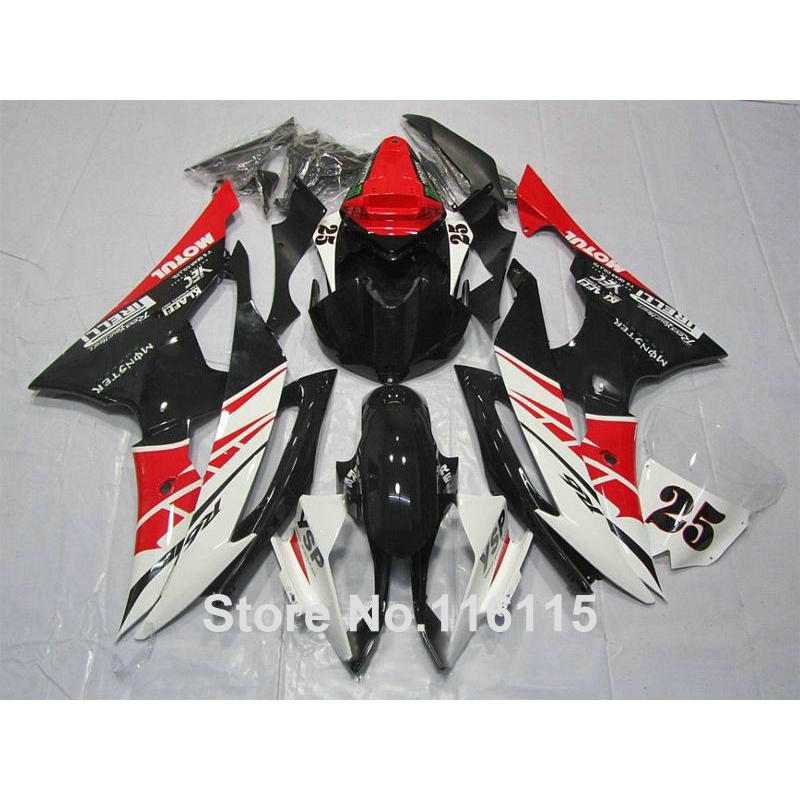 Injection molding bodywork fairings set for YAMAHA R6 2008 -2014 red white black full fairing kit YZF R6 08 09 - 14 ZB86 injection molding hot sale fairing kit for yamaha yzf r6 06 07 white red black fairings set yzfr6 2006 2007 tr16