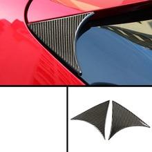 lsrtw2017 carbon fiber car rear window triangle sticker for mazda3 2013 2014 2015 2016 2017 2018