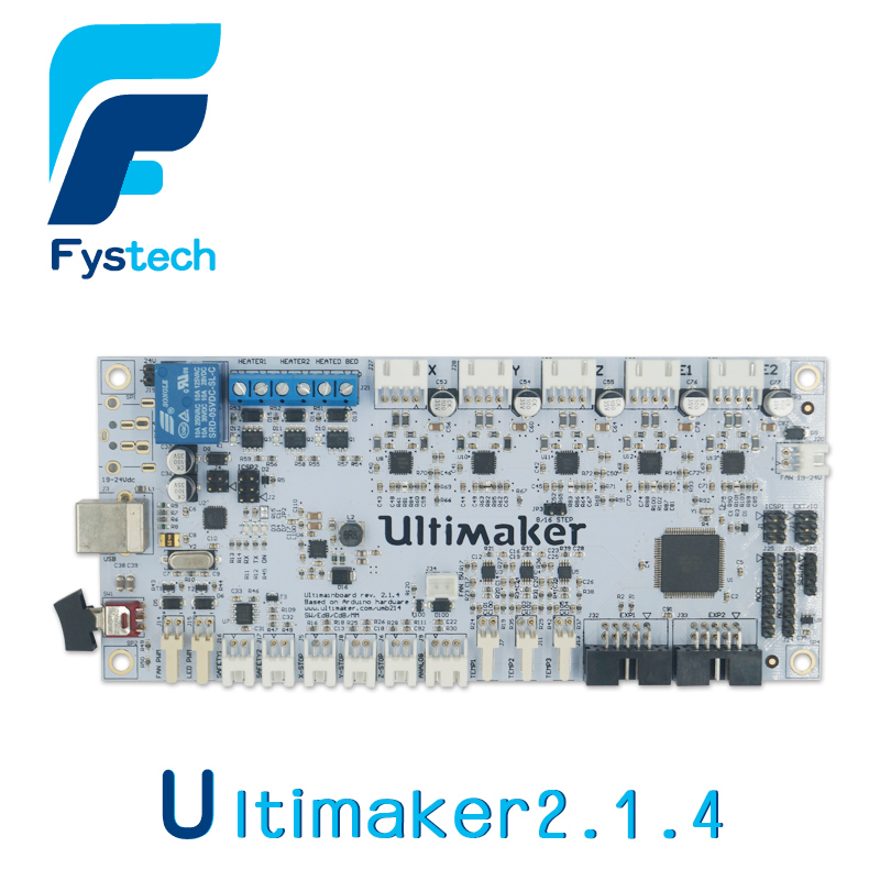 3D Printer Parts 2016 Latest Ultimaker V2.1.4 Control Board Ultimaker 2 Finished Main Motherboard 3d printer parts ultimaker v2 control board ultimaker 2 generations board interface board with lcd genuine spot free shipping