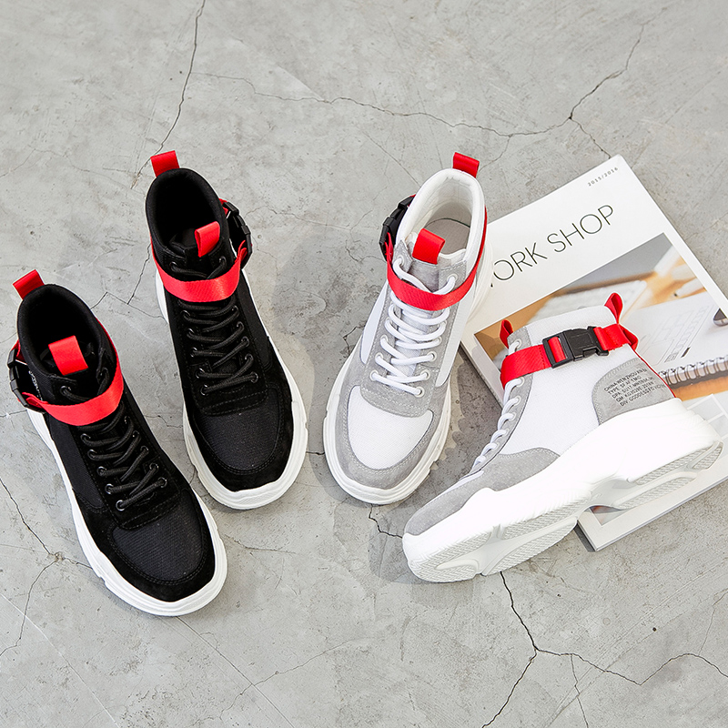 ad0496e5 Dumoo Señora Otoño Cuero Zapatos De 5 Zapatillas Mujeres Nuevos Las Deporte  Cuñas Tacón Cm Vaca ...