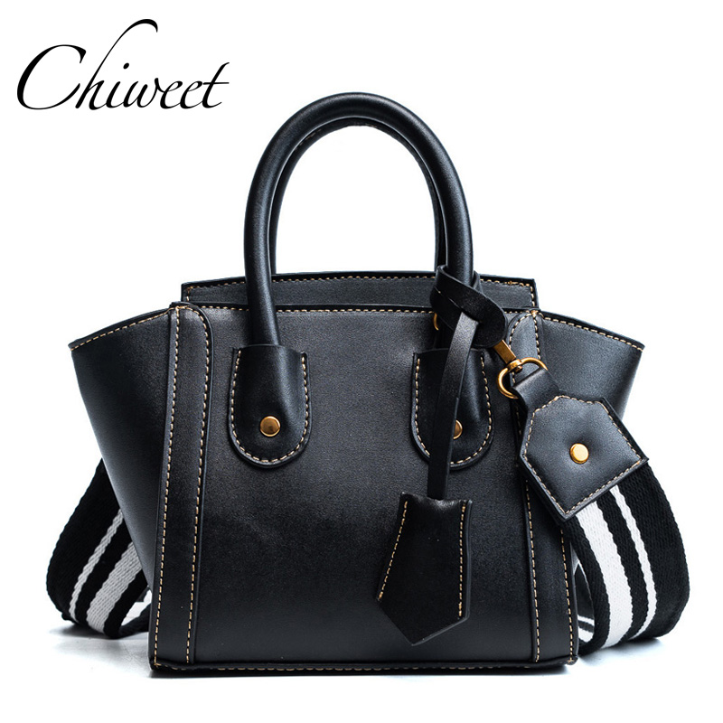 Famous Brand Trapeze Bag PU Leather Smiley Vintage Tote Bag Designer Handbags For Women Messenger Bags Luxury Wing Shoulder Bags