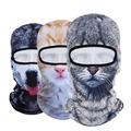 New 3D Animal Gato Cão Ao Ar Livre Bicicleta Ciclismo Moto Ski Chapéus Festa de Halloween Máscara Facial Balaclava Snowboard À Prova de Vento