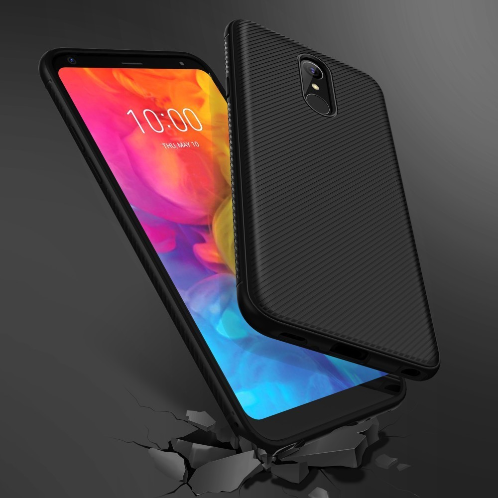 Q7a Q7 Plus Q7 Alpha Quell Summer Thirst Sfor Lg Q7 Case Lenuo Le-shen Ii Shockproof Soft Tpu Carbon Fiber Brushed Back Cover Case For Lg Q7 Phone Bags & Cases