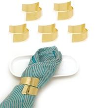 TAI Топ кольцо для салфеток для свадебной вечеринки Праздничный отель, 6 шт. неправильная печатная фигура держатель для салфеток пряжки золотые кольца для салфеток