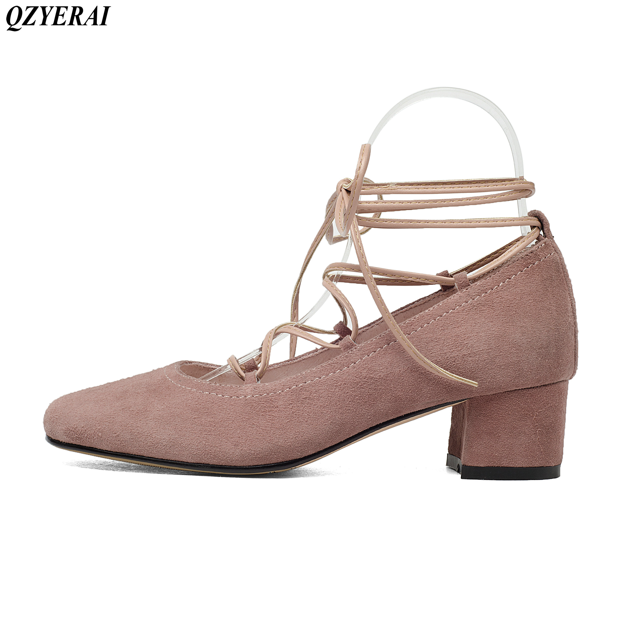 QZYERAI Fashionable lady of 2018 100% sheepskin high heels spring summer sexy women's shoes European fashion trend size 34-43 чехол deppa air case для sony xperia z3 розовый 83140