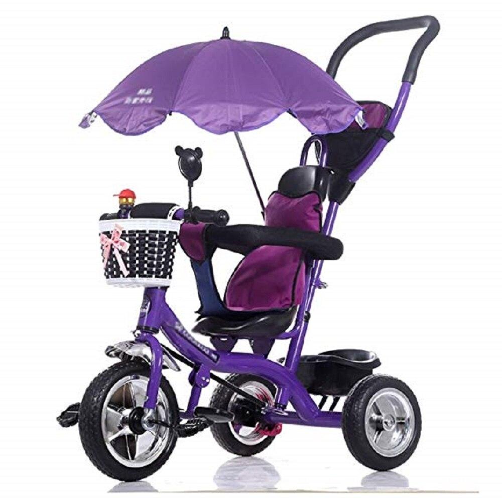 YUEWO Kids Trike Baby Carriage Children's Bicycle 1-6 Years Old Large Baby Girls Car 3-wheeler