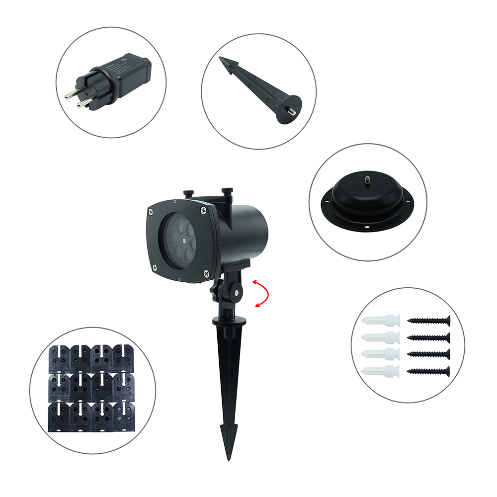 SXZM Waterproof led Stage light 12 Pictures outdoor projector Landscape Light Xmas Party Garden Holiday 4 Modes EU/US/UK/AU plug