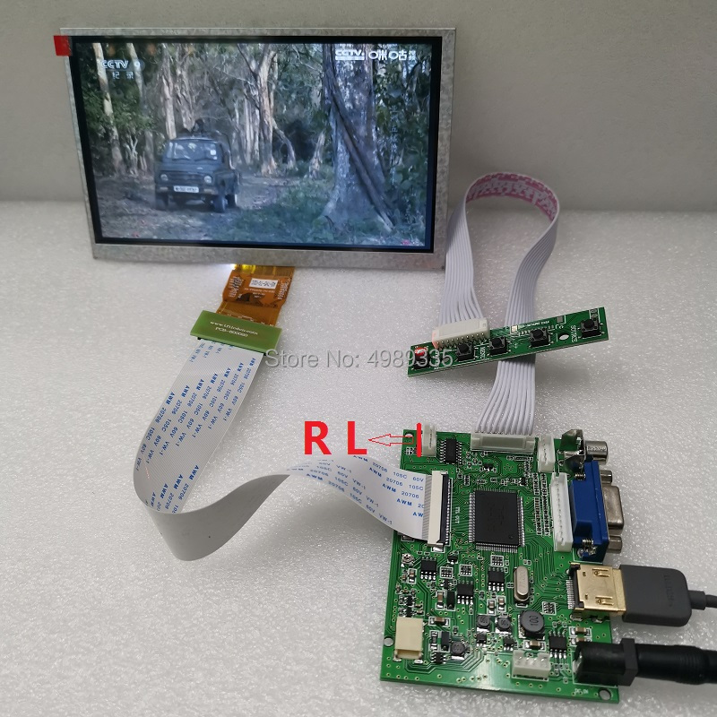 7 Inch Display Panel Module Kit HDMI VGA AV1 Av2TN Screen 1024X600