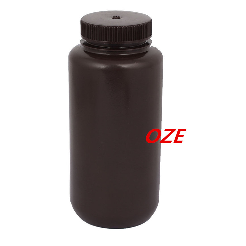 1PCS 1000ml Plastic Wide Mouth Chemical Laboratory Reagent Bottle Sample Bottle Brown