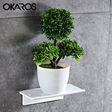 OKAROS держатель для туалетной бумаги для ванной комнаты, держатель для туалетной бумаги, полка из вискозы, настенный акриловый пластиковый аксессуар для туалетной бумаги