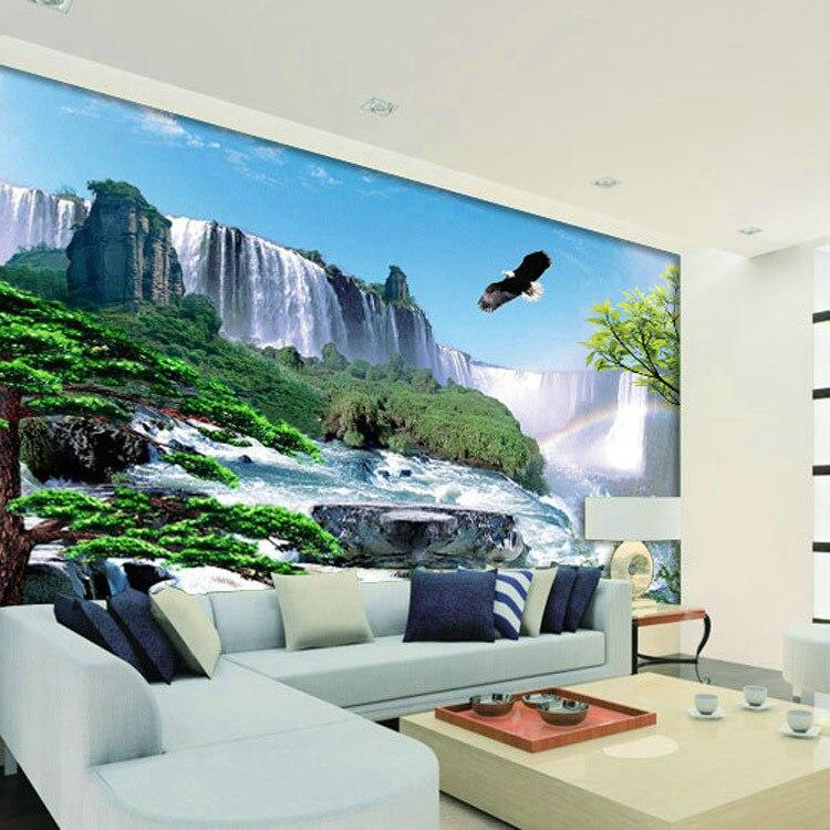 Paisagens Murais Fundo Tv Mural Papel De Parede Mural