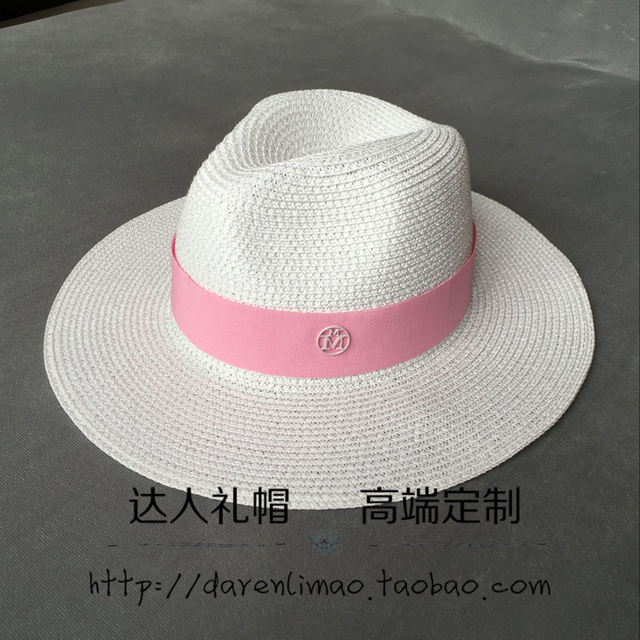 Новая коллекция весна и лето двойной порошок М марки Сэр белый соломенная шляпа соломенная шляпа шляпа пляж шляпа затенение море женский