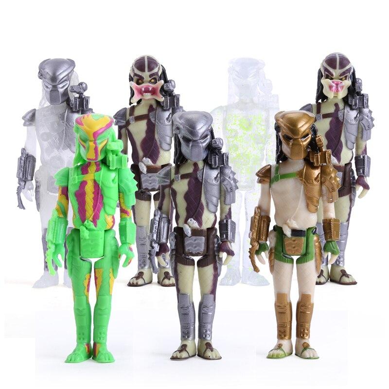 Predators PVC Action Figures Toys 4 10CM Movies & TV Toys & Hobbies 7pcs/set MVFG295 12pcs set children kids toys gift mini figures toys little pet animal cat dog lps action figures