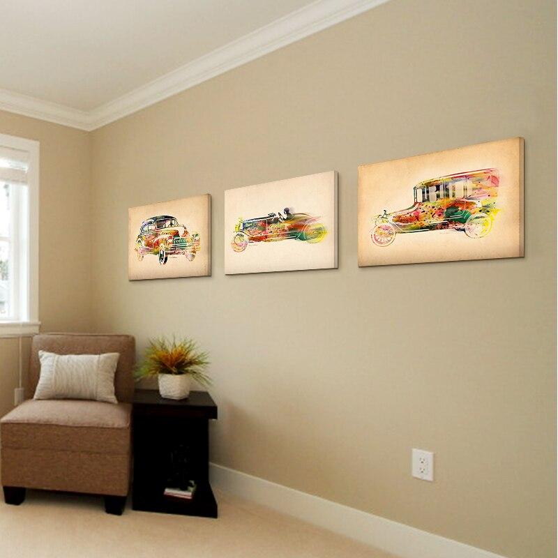 Ölgemälde auf leinwand bunte auto Ölgemälde abstrakte moderne ... - Moderne Kunst Wohnzimmer