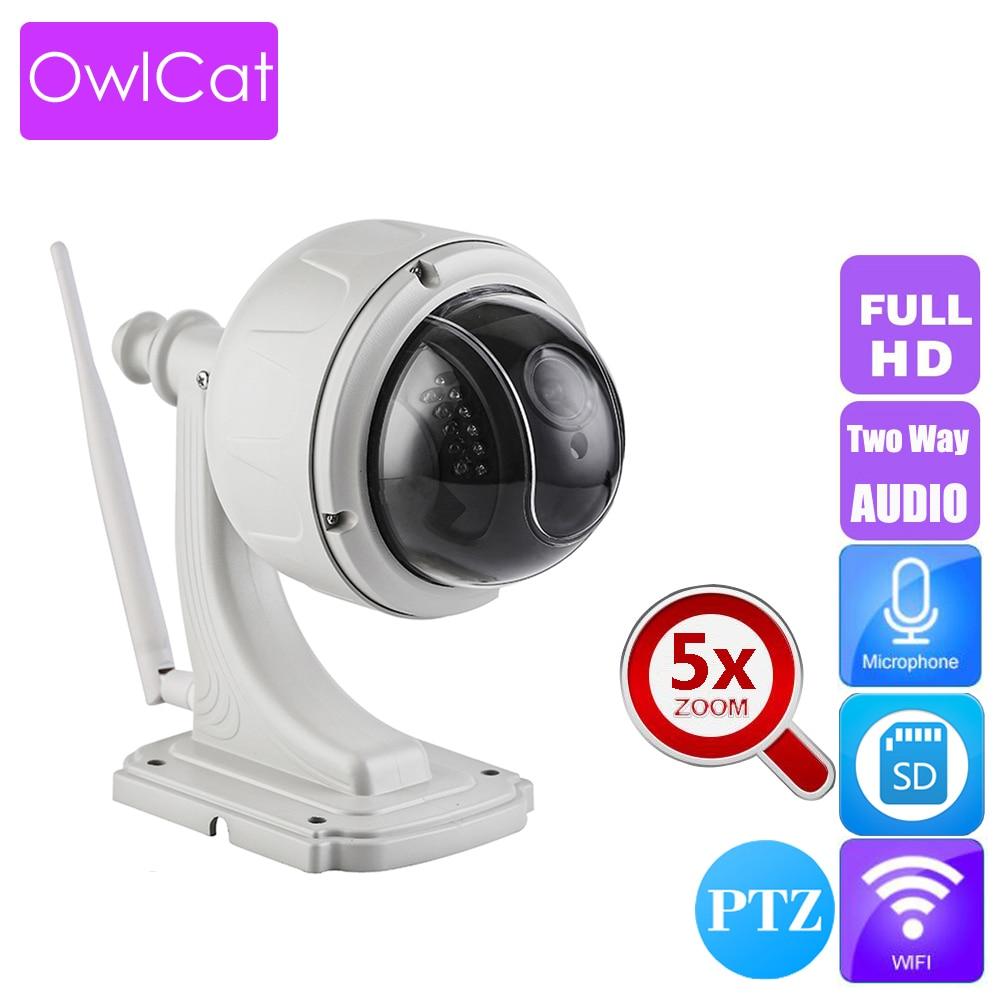 OwlCat Sony323 aparat IP HD kopuła 5x PTZ bezprzewodowy WiFi wideo 1080 P nadzoru kamera do monitoringu nocnego dwukierunkowej rozmowy Audio gniazdo SD w Kamery nadzoru od Bezpieczeństwo i ochrona na AliExpress - 11.11_Double 11Singles' Day 1