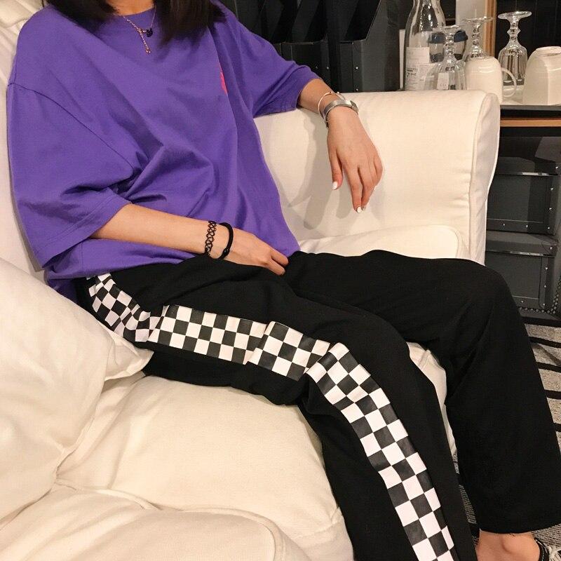 HTB1YgyJSFXXXXcaXVXXq6xXFXXX0 - Checkerboard Pants Punk Black White Squares Cool  Street Trouser JKP003