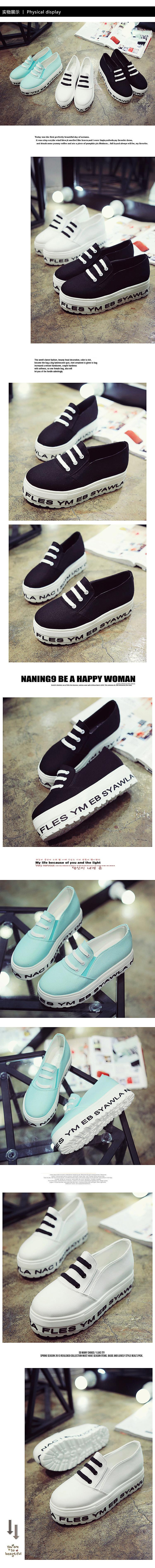2016 white heavy-bottomed shoes lazy students a pedal canvas doug shoes women solid Loafers shoes 6