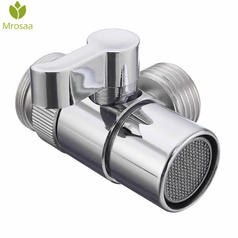 1 sztuk przełącznik łazienka przełącznik przepływu wody bateria umywalkowa kran mosiądz przełączający kran kuchenny filtr zawór części zamienne