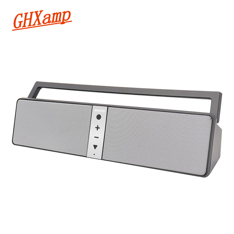GHXAMP Portable Bluetooth Speaker Wireless With Mic FM Radio Power Bank Stereo HIFI Deep Bass Loudspeaker For Square Dance 1PC цена